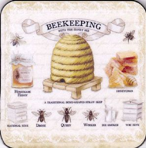 Beekeeping drinks mat / coaster (og)